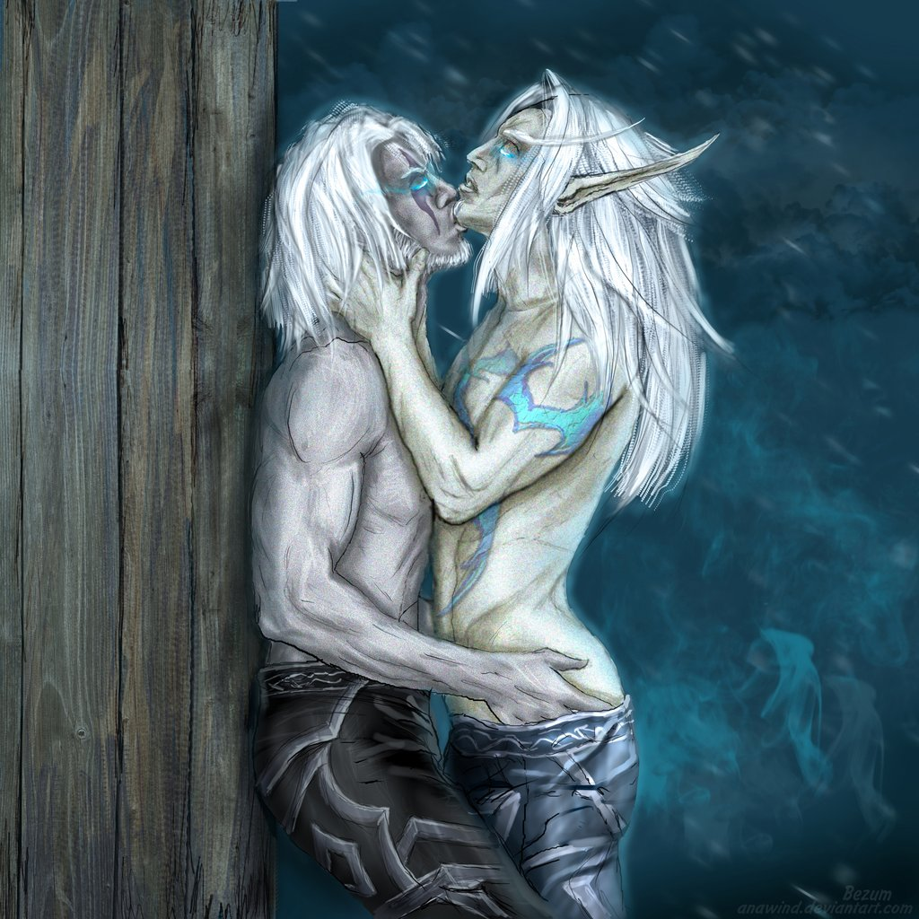 blood and night elf elf Everyday life with monsters suu