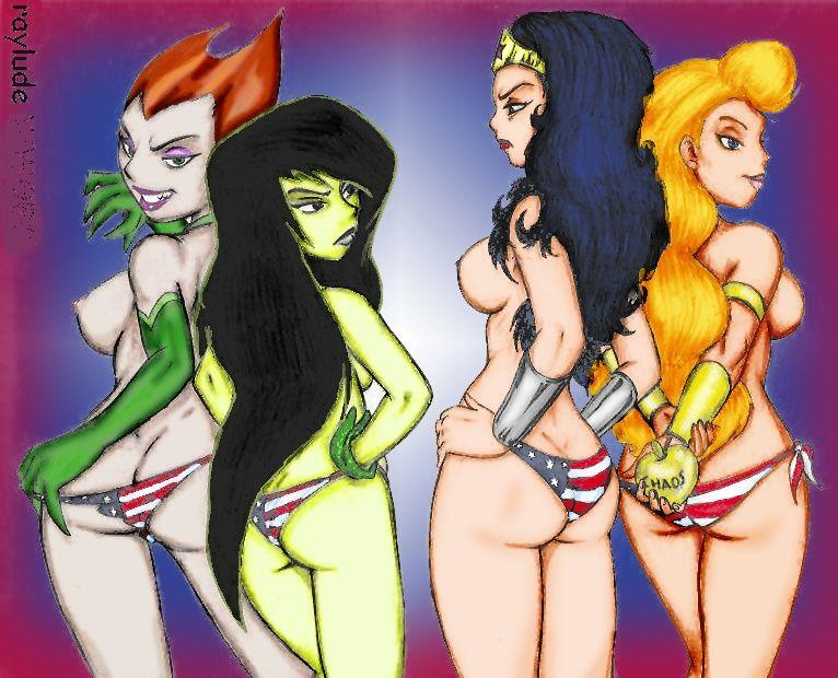 gods justice tina monsters and league Princess peach naked boobs exposed
