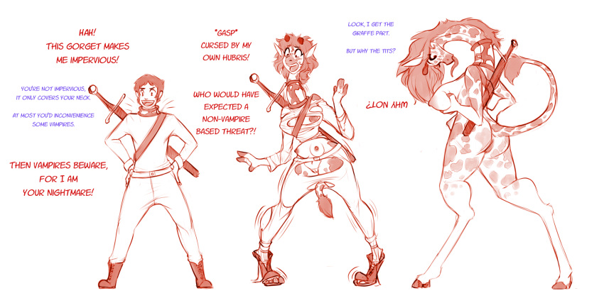 transformation male female comics to V-ko trials in tainted space